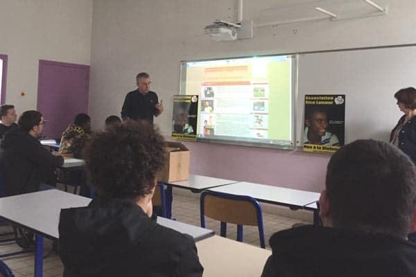Intervention de l'association RICO LAMOUR en classe de 1 CAP MVP-ELEC