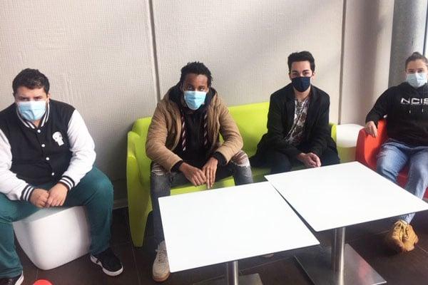 Les 4 membres du bureau