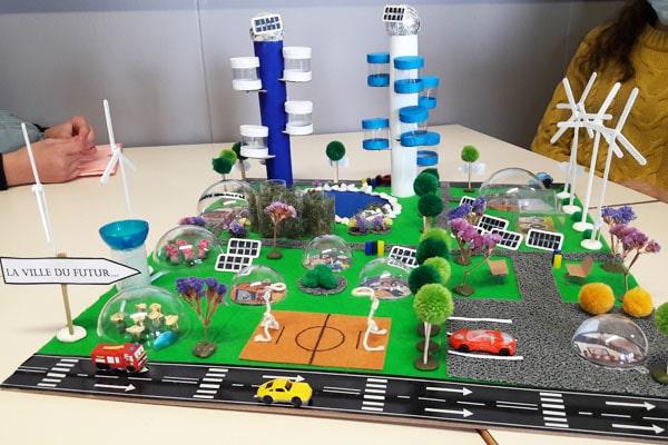 Les élèves de 6ème1 et de 6ème6 inventent la ville du futur