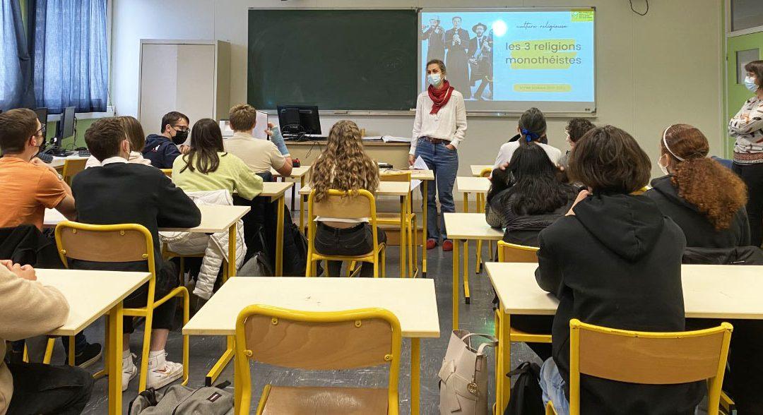 Les classes de seconde à la découverte des religions et de la laïcité en France